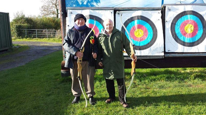 Archery with Long Bow and Arrows